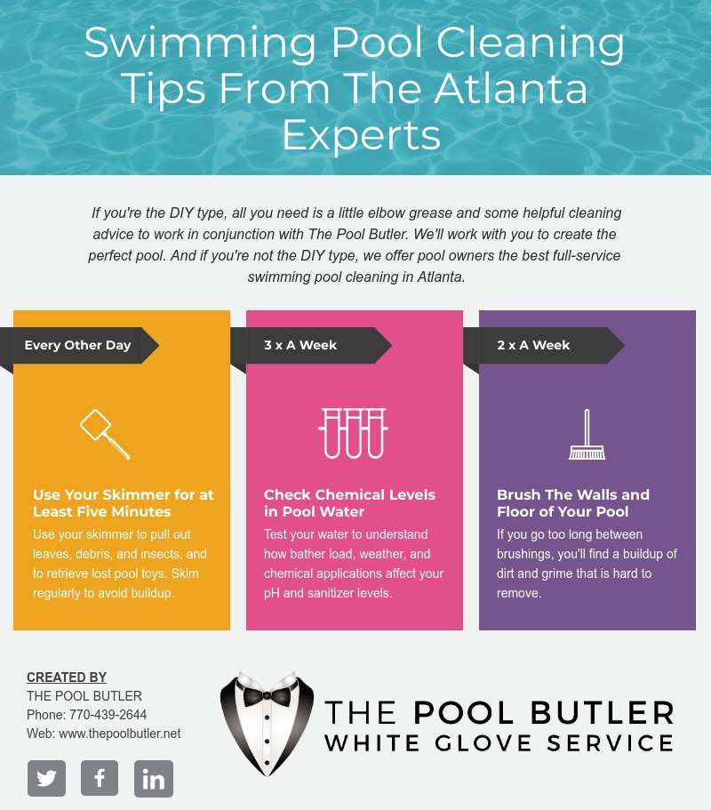 Swimming Pool Cleaning Tips From The Atlanta Experts [infographic]