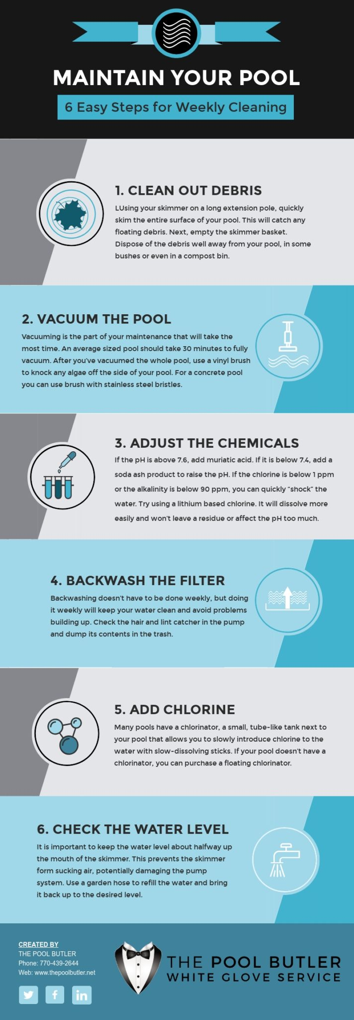 How to Maintain Your Pool Quickly and Easily [infographic]