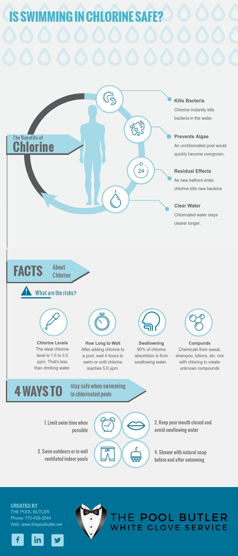 Is Swimming in Chlorine Safe [infographic]
