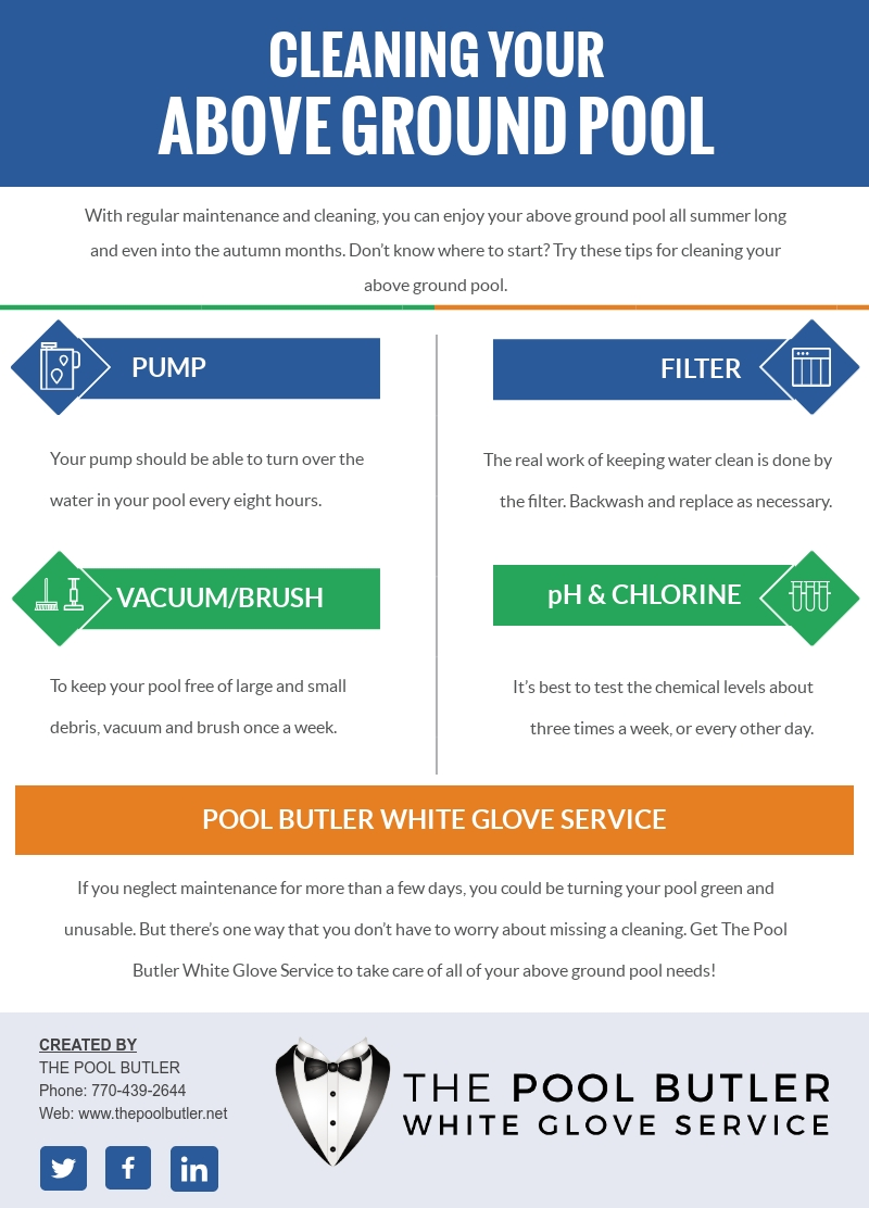 Tips for Cleaning Your Above Ground Pool [infographic]