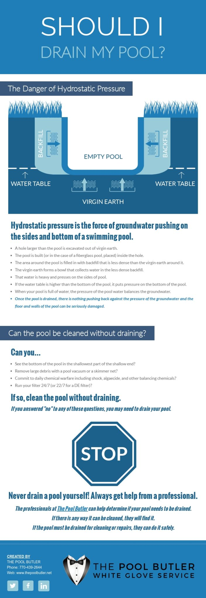 When to Drain a Pool [infographic]