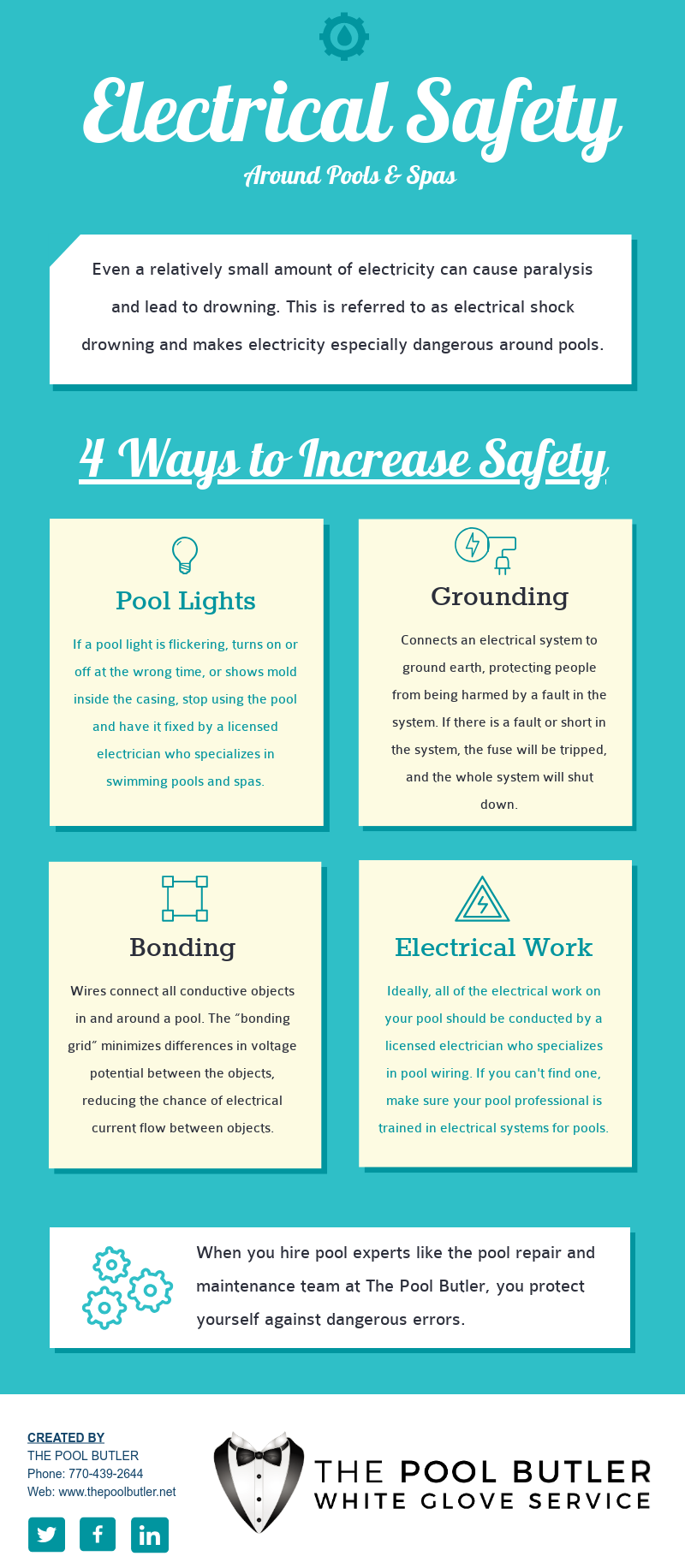 Electrical Safety Around Pools And Spas Electricity Water Residential Wiring Techniques Infographic