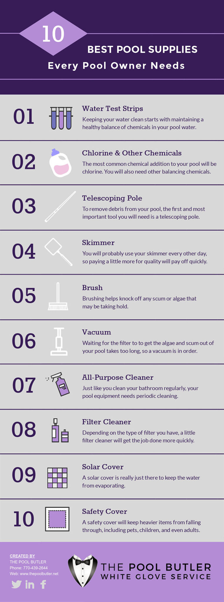 Best Pool Supplies Every Pool Owner Needs [infographic]