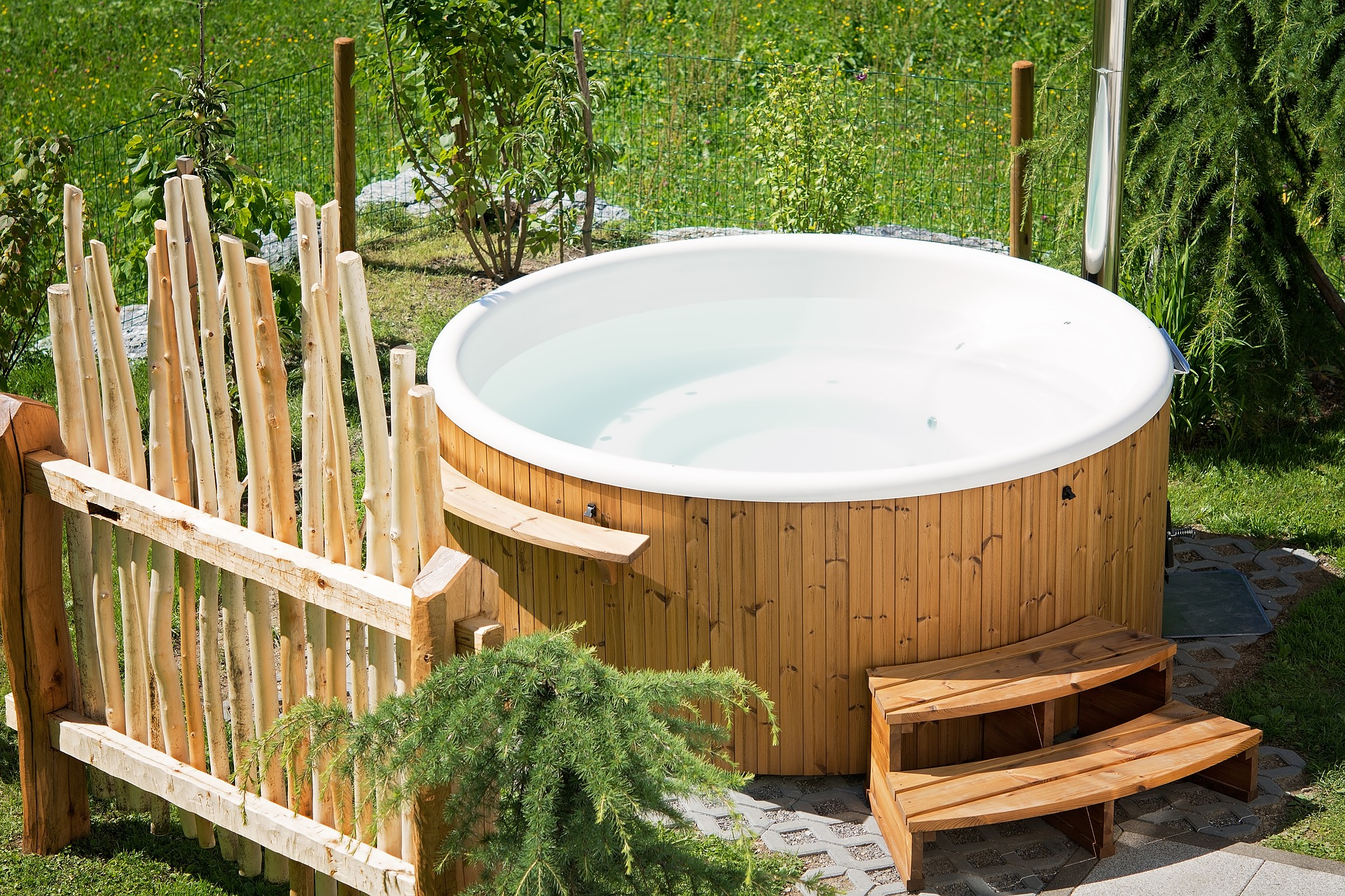 the perfect maintenance schedule for a hot tub or spa