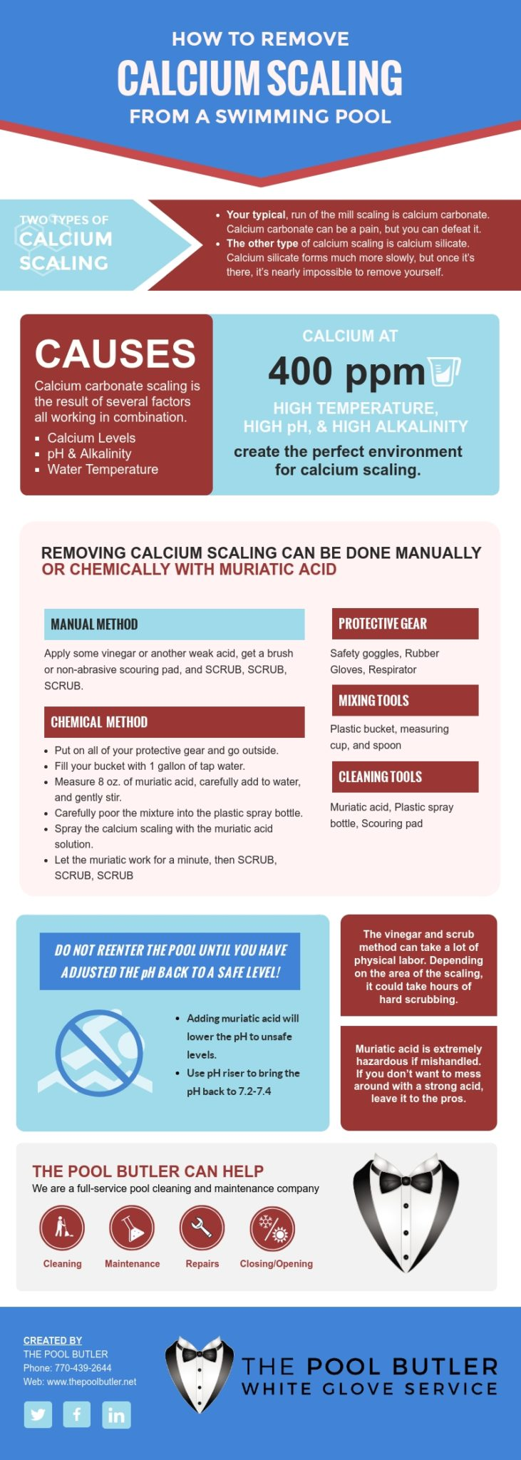 How to Remove Calcium Scaling from a Swimming Pool [infographic]