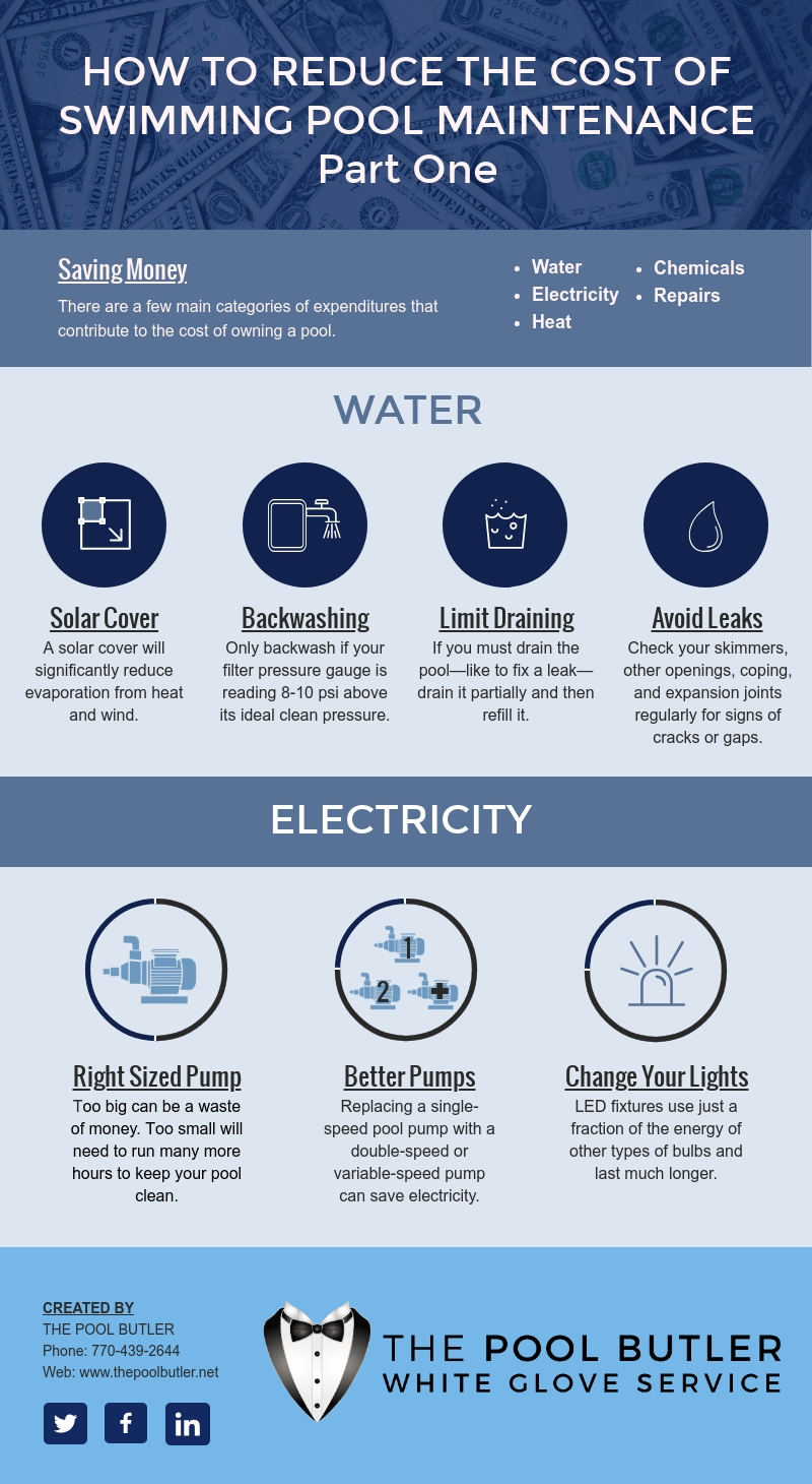 How to Reduce the Cost of Swimming Pool Maintenance - Part One [infographic]