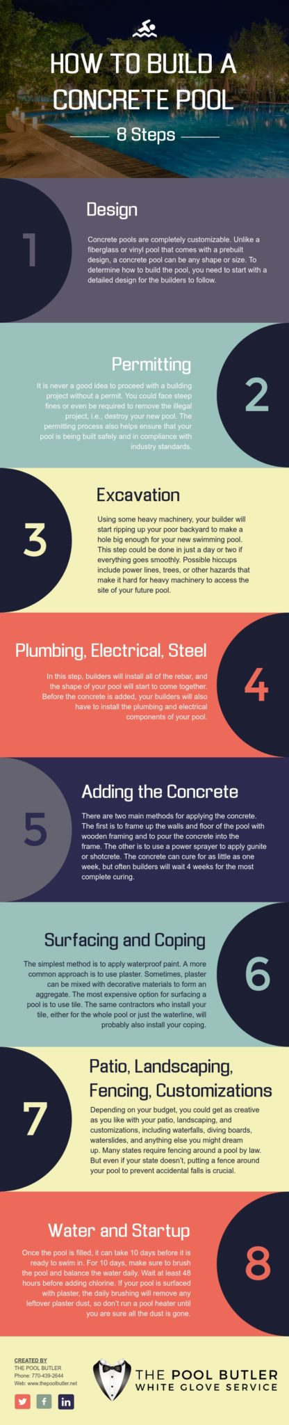 How to Build a Concrete Pool [infographic]