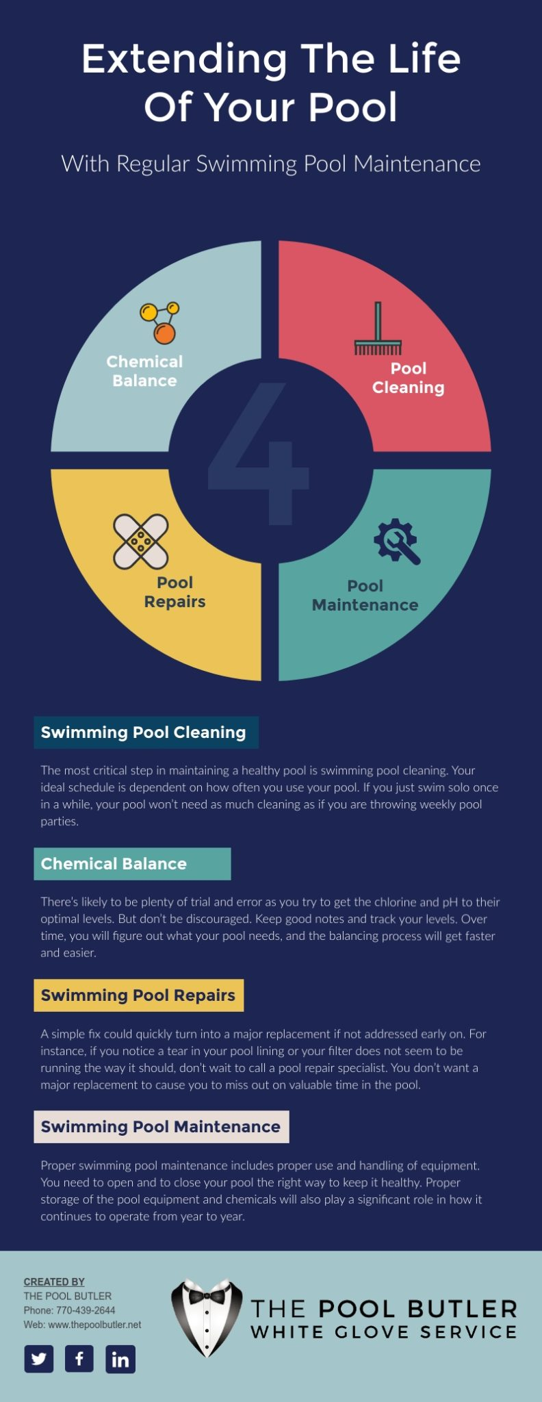 Extending The Life Of Your Pool With Regular Swimming Pool Maintenance [infographic]