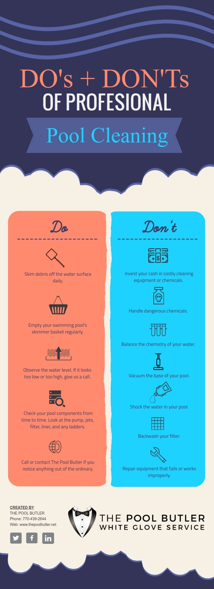 The DO's & DON'Ts of Professional Swimming Pool Cleaning [infographic]