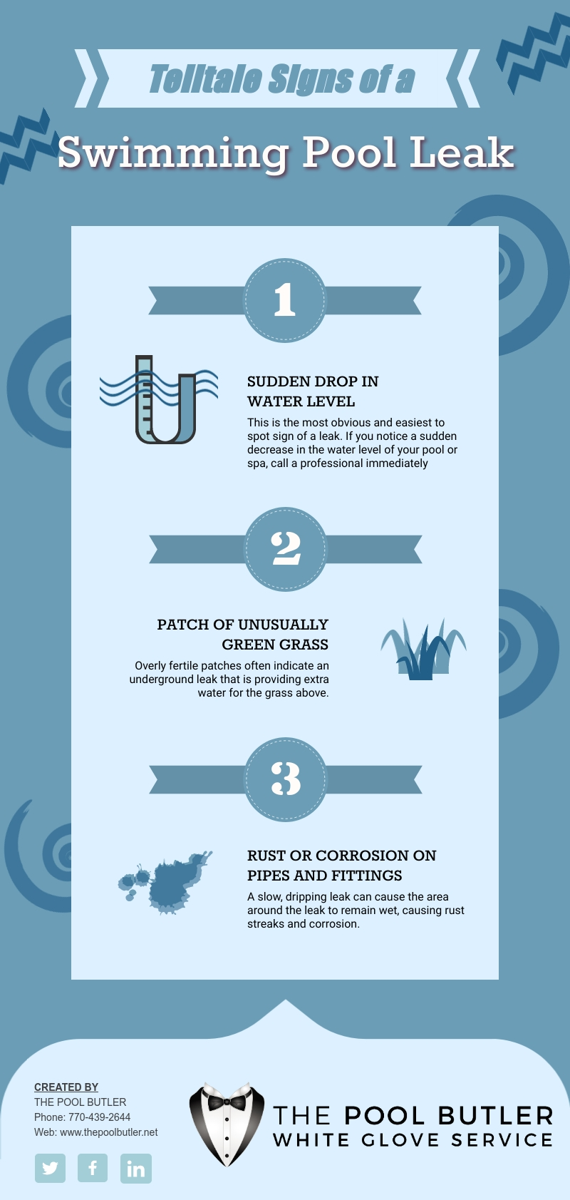 Detecting A Swimming Pool Leak [infographic]
