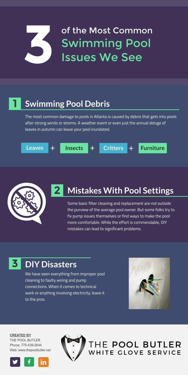 The Most Common Swimming Pool Issues We Encounter [infographic]