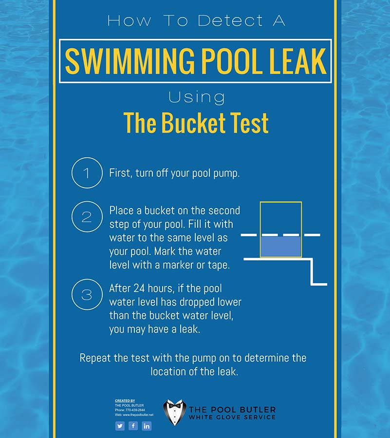 Swimming Pool Maintenance Tips Detecting A Pool Leak [infographic]