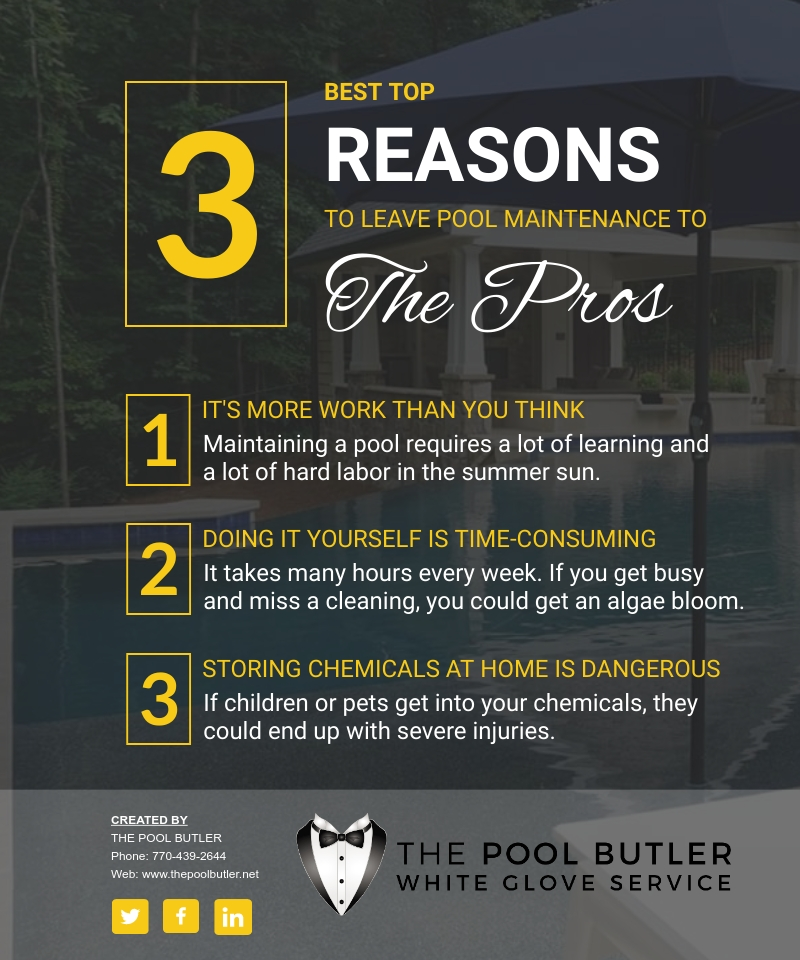 Why Pool Maintenance Should Be Left To The Professionals [infographic]